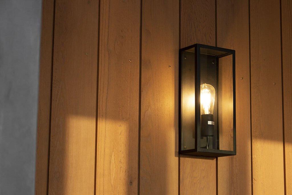 External fireplace lighting