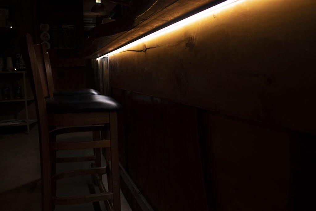 Under bar strip lighting